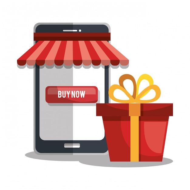 Comprar en linea vector gratuito