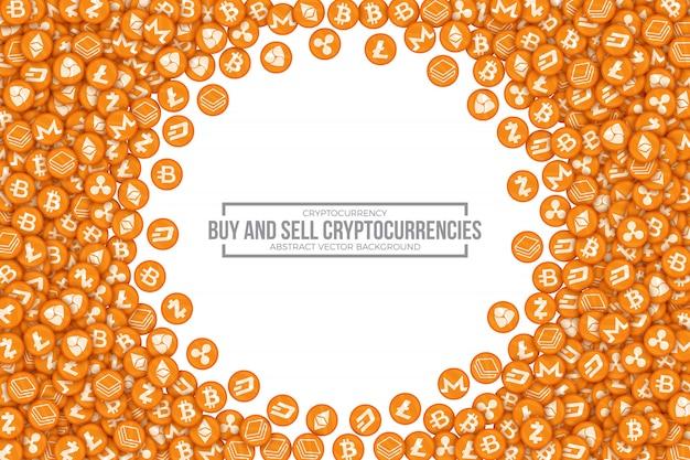 Comprar vender cryptocurrencies conceptual vector illustration Vector Premium