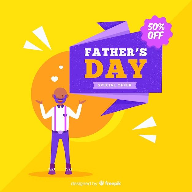 Compras del día del padre vector gratuito