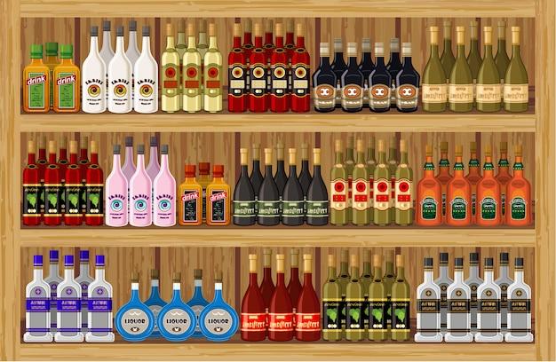 Compre bebidas alcohólicas. Vector Premium