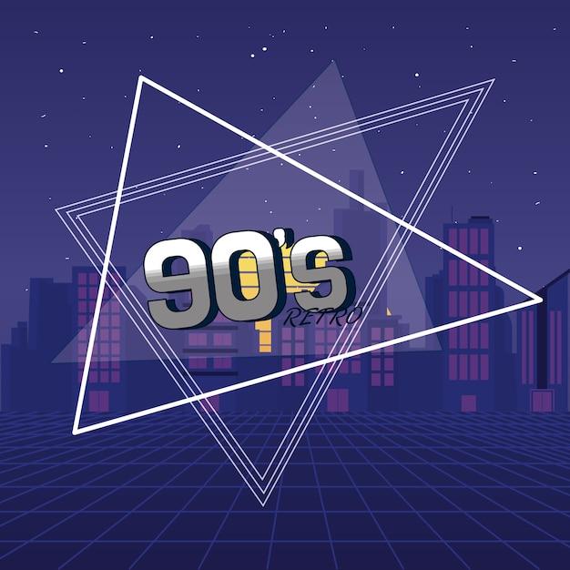El concepto de los 90 por siempre Vector Premium