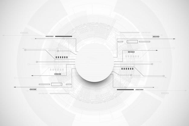 Concepto abstracto de la comunicación de la tecnología del fondo Vector Premium