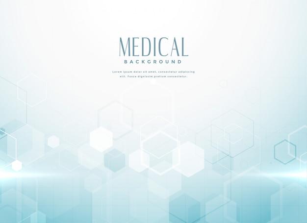 Concepto abstracto del fondo de la ciencia médica vector gratuito