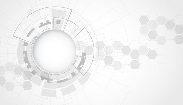 Concepto abstracto futurista de la tecnología digital Vector Premium