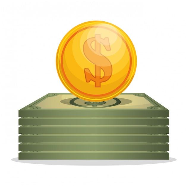 Concepto de ahorro y dinero vector gratuito