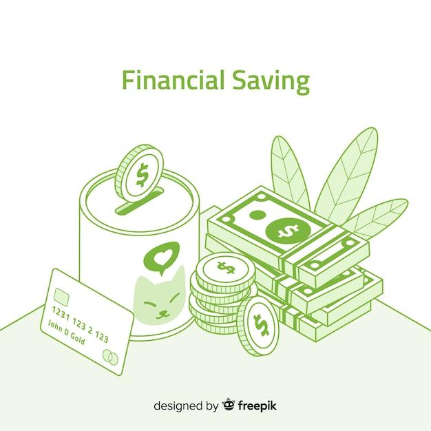 Concepto de ahorro de dinero vector gratuito