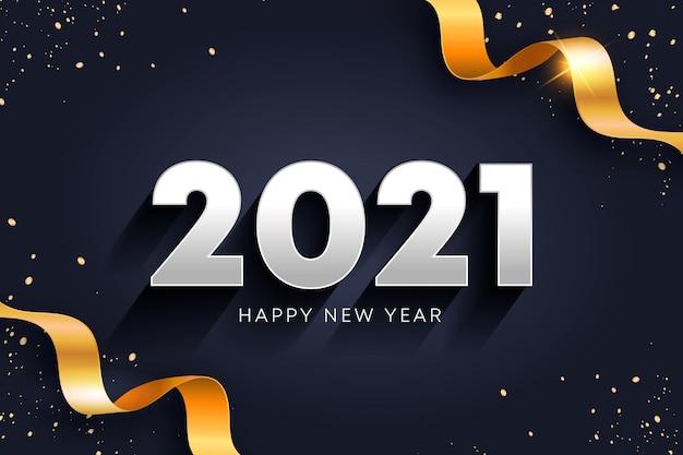 Concepto de año nuevo dorado 2021 Vector Premium