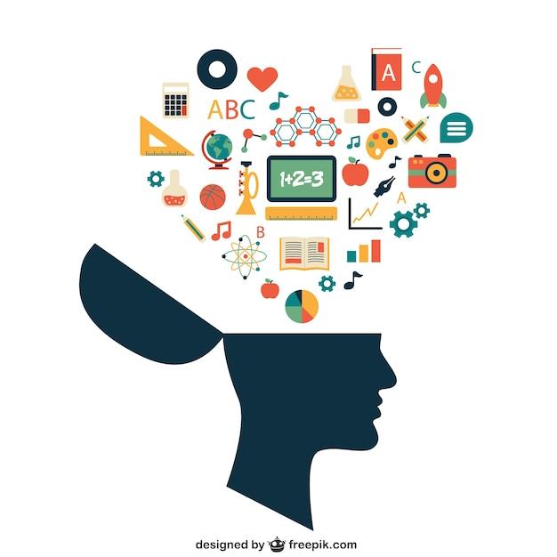 Concepto de aprendizaje vector gratuito