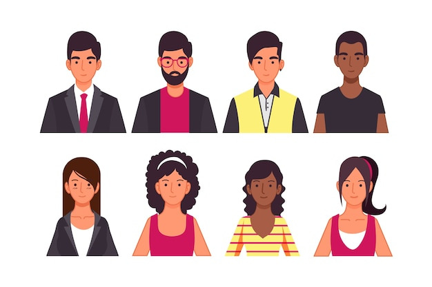 Concepto de avatar de personas para el concepto de ilustración vector gratuito