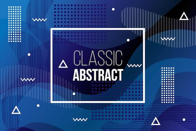 Concepto azul clásico abstracto para el fondo vector gratuito