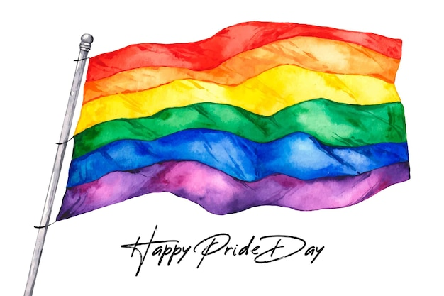 Concepto de bandera del día del orgullo vector gratuito