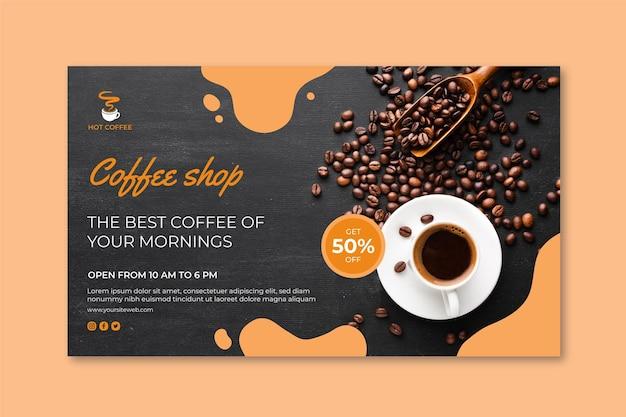 Concepto de banner de cafetería vector gratuito