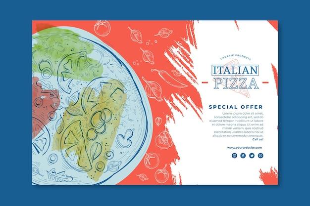 Concepto de banner de comida italiana vector gratuito
