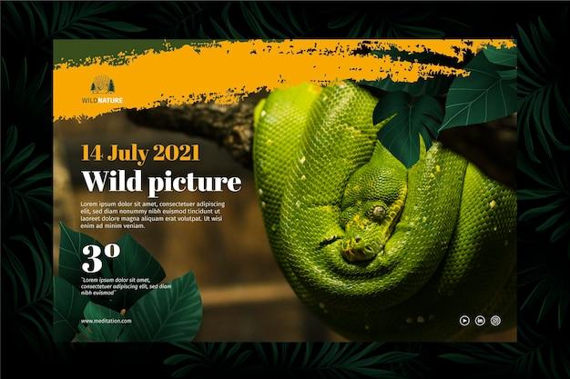 Concepto de banner de naturaleza salvaje vector gratuito
