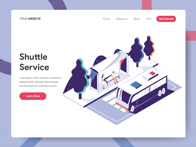 Concepto de banner de servicio de transporte para la página web Vector Premium