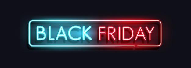 Concepto de banner de venta de viernes negro Vector Premium