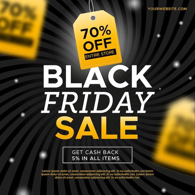 Concepto de banner de viernes negro vector gratuito