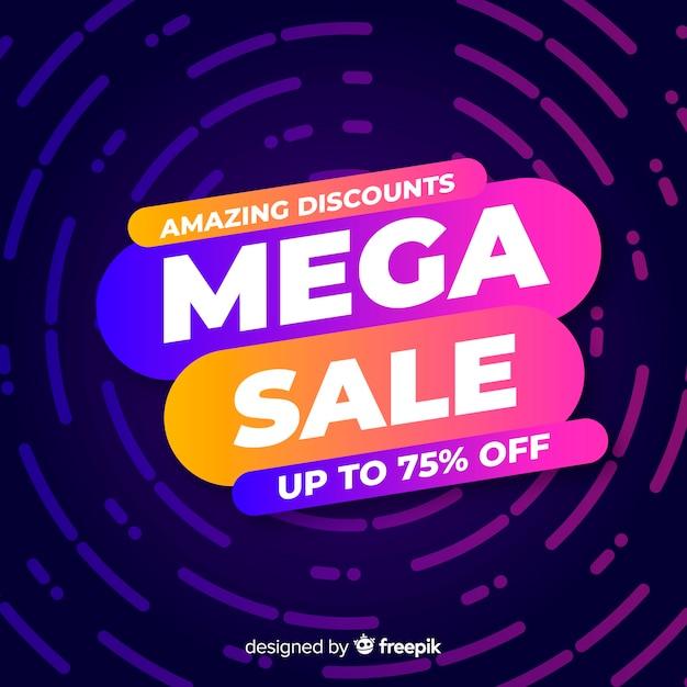Concepto de banners de mega sale vector gratuito