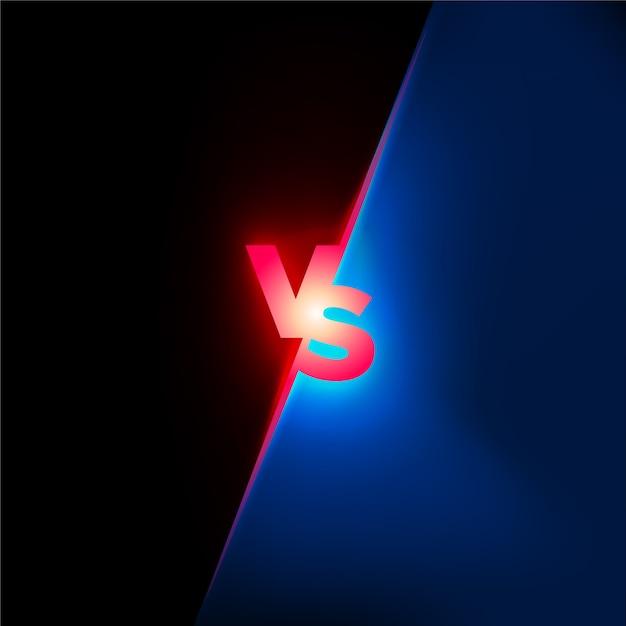Concepto de batalla. confrontación lucha competencia fondo Vector Premium