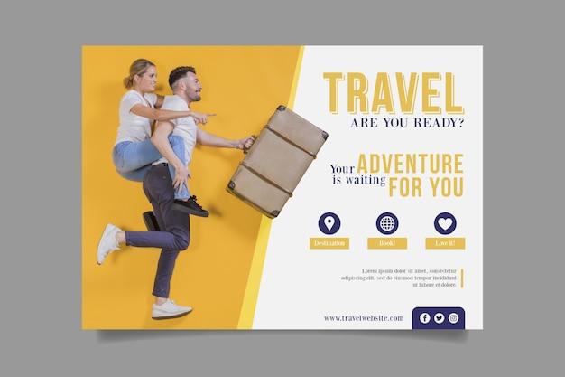 Concepto de cartel de viaje vector gratuito