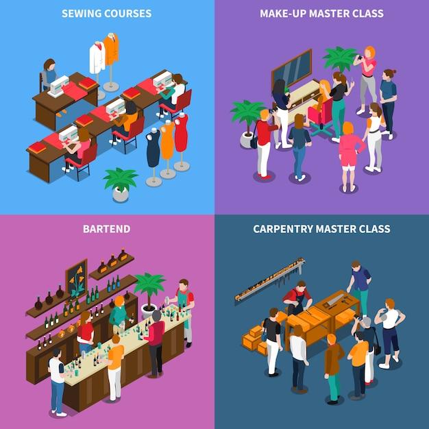 Concepto de clase magistral y cursos vector gratuito