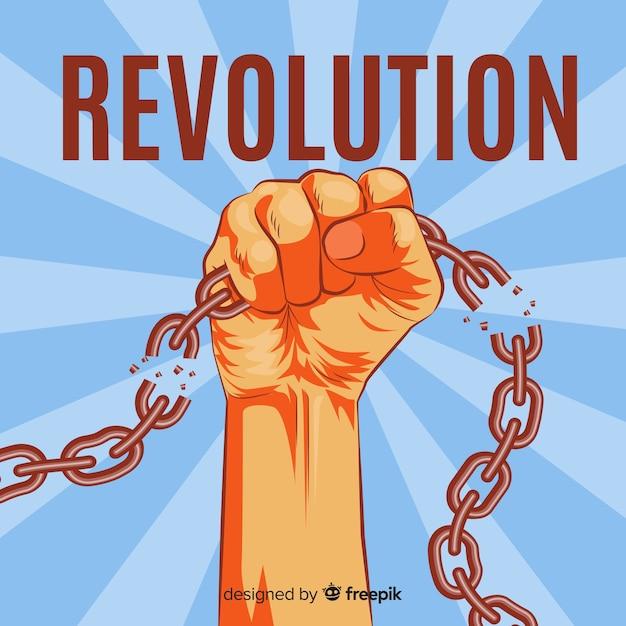 Concepto clásico de revolución con estilo vintage vector gratuito