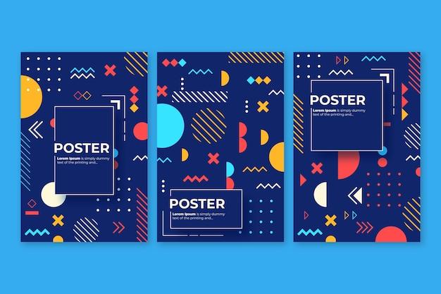 Concepto de colección de cubierta colorida abstracta vector gratuito