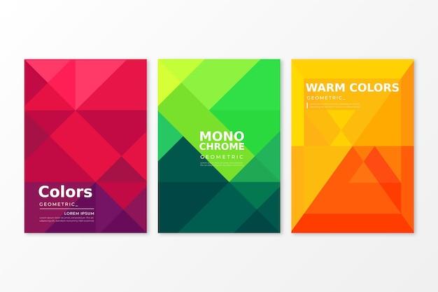 Concepto de colección de cubierta geométrica abstracta Vector Premium
