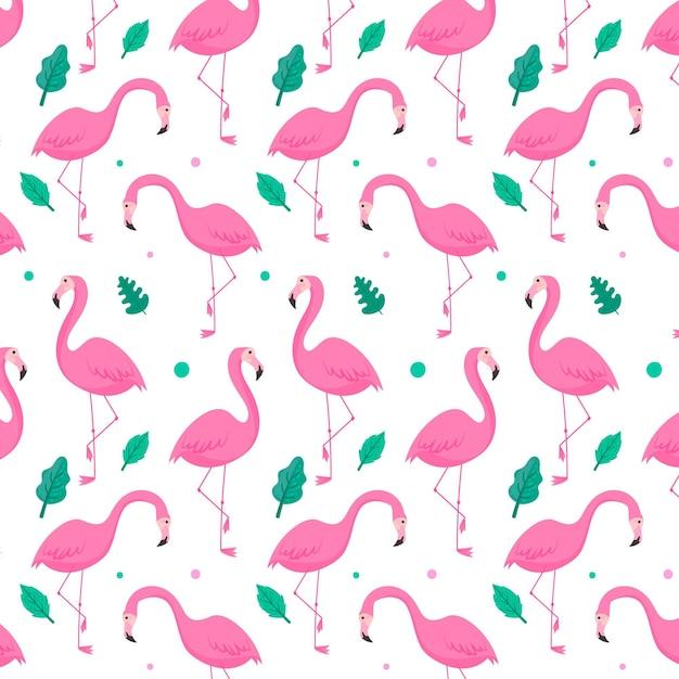 Concepto de colección de patrón de flamenco vector gratuito