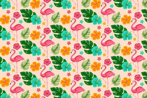 Concepto de colección de patrones de verano vector gratuito