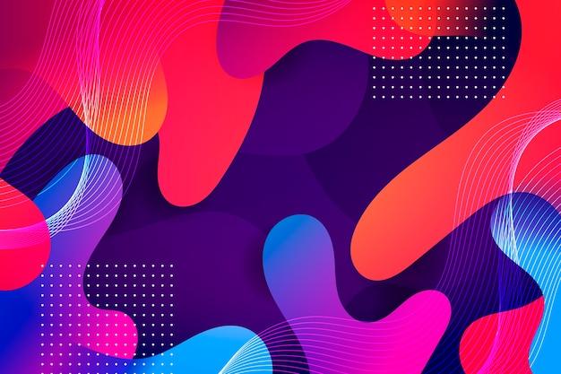 Concepto de colores de fondo vector gratuito