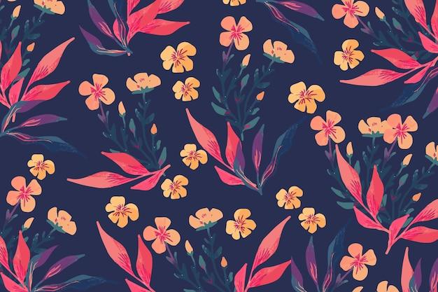 Concepto de coloridas flores dibujadas a mano vector gratuito