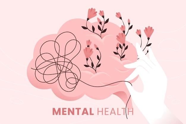Concepto de conciencia de salud mental Vector Premium
