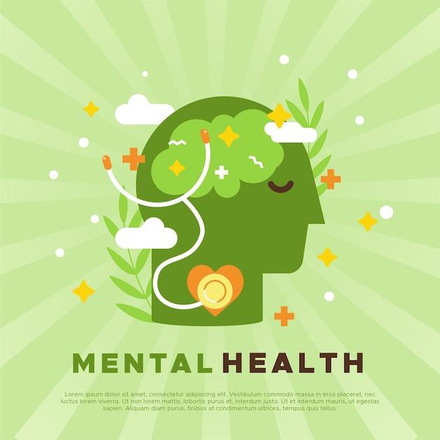 Concepto de conciencia de salud mental vector gratuito
