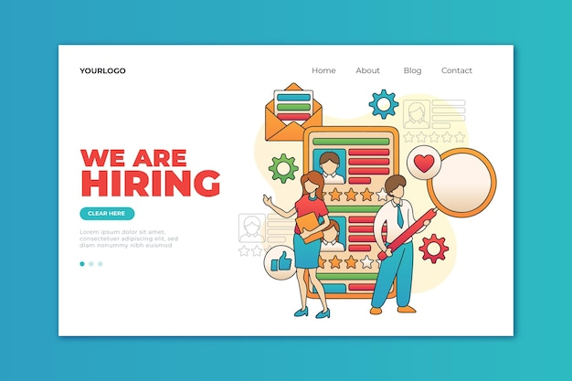 Concepto de contratación vector gratuito