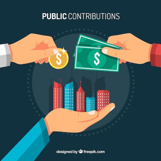 Concepto de contribución pública vector gratuito