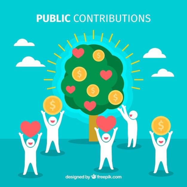 Concepto de contribuciones públicas vector gratuito