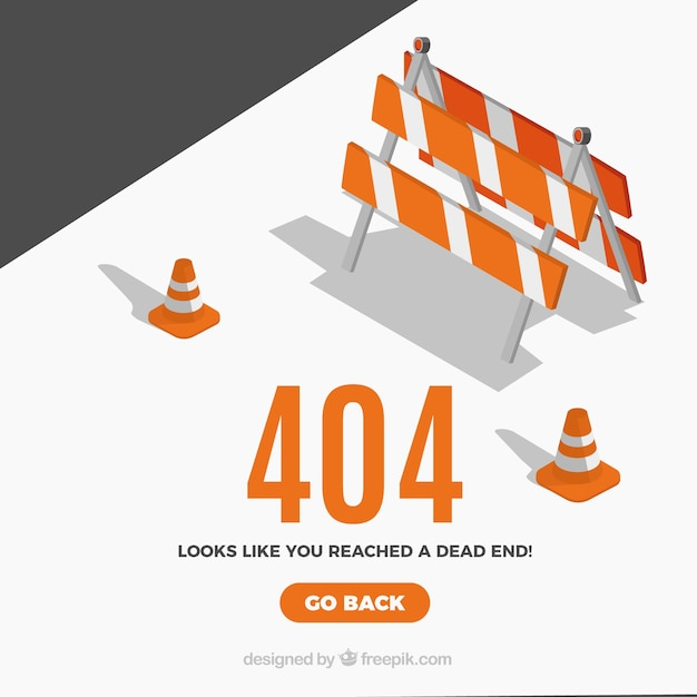 Concepto creativo de error 404 vector gratuito