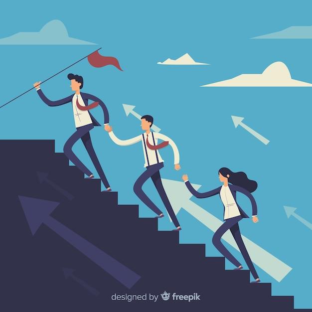 Concepto creativo de liderazgo vector gratuito