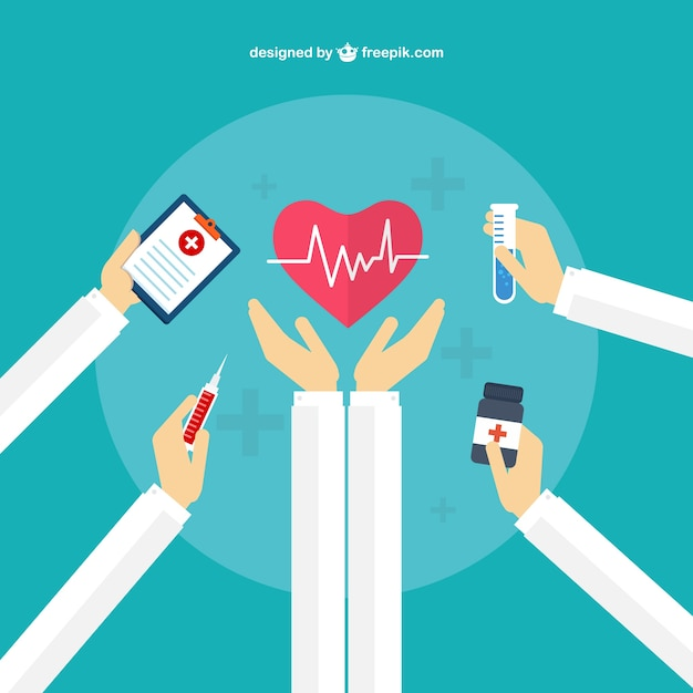 concepto de cuidado médico descargar vectores gratis