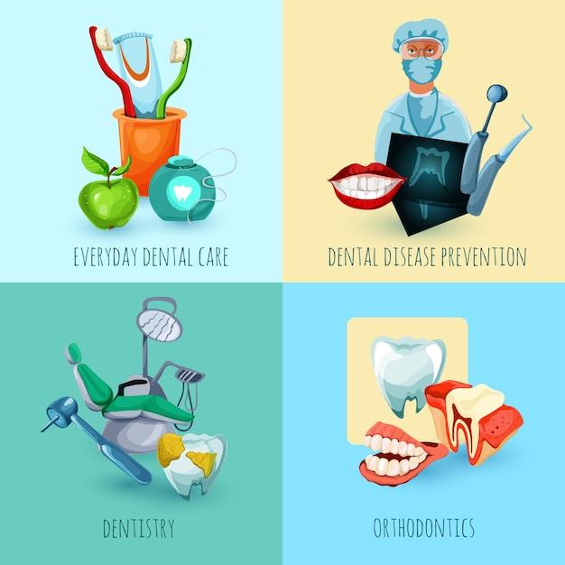 Concepto de diseño de estomatología Vector Gratis
