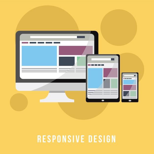 Concepto de negocio, diseño receptivo | Descargar Vectores Premium