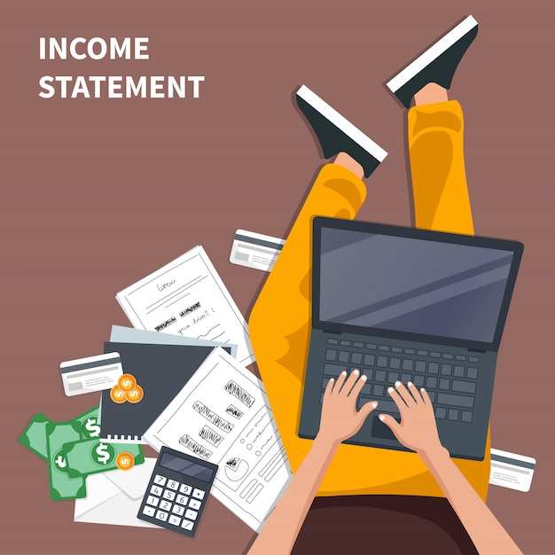 Concepto de declaración de ingresos Vector Premium