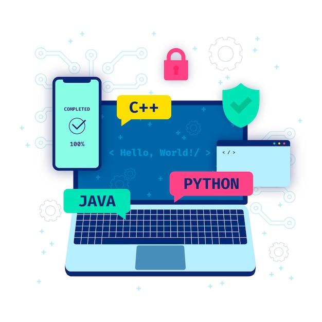 Concepto de desarrollo de aplicaciones vector gratuito