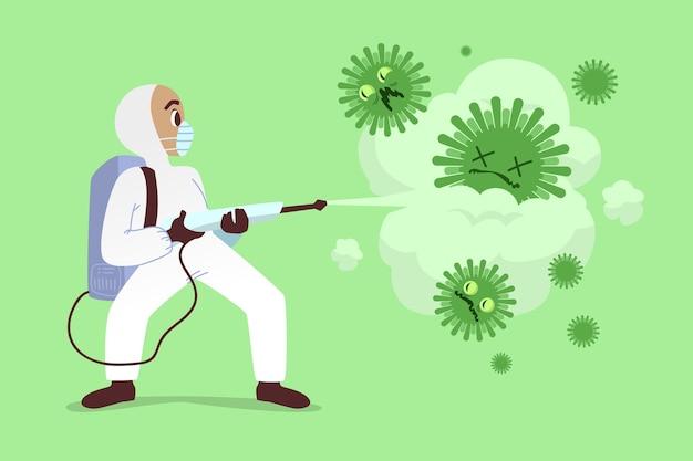 Concepto de desinfección de virus vector gratuito