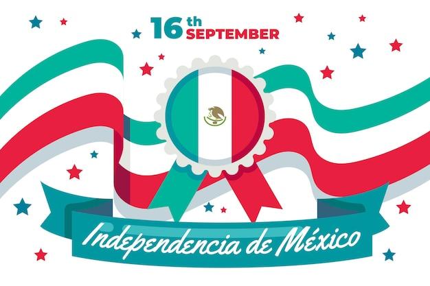 Concepto de día de independencia mexico de diseño plano vector gratuito