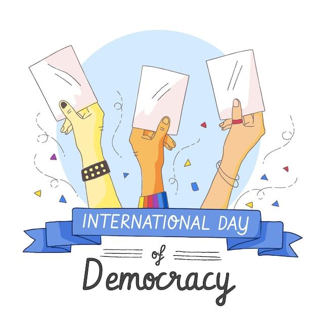Concepto del día internacional de la democracia vector gratuito