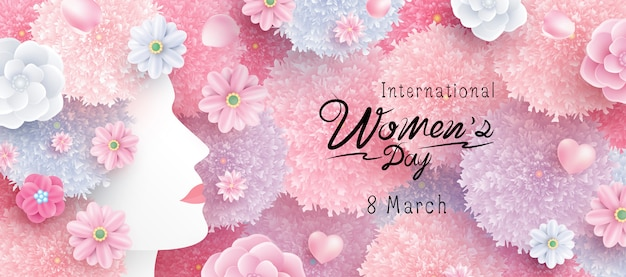 Concepto del día internacional de la mujer. Vector Premium