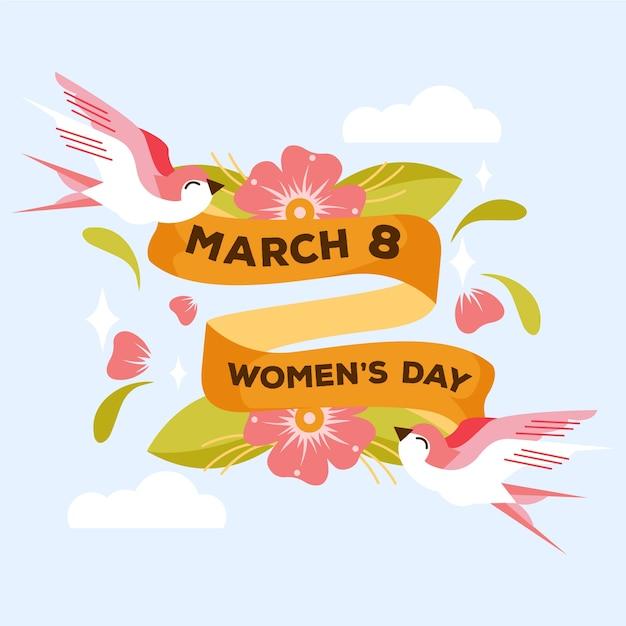 Concepto de día de mujer dibujado a mano vector gratuito