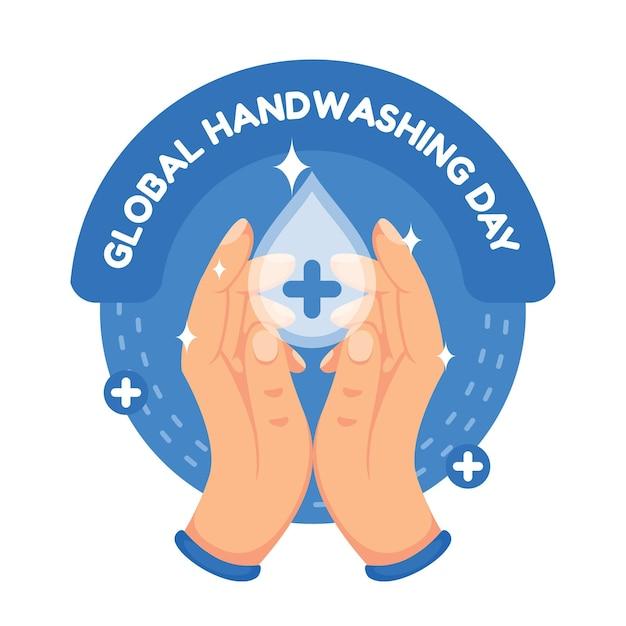 Concepto del día mundial del lavado de manos vector gratuito